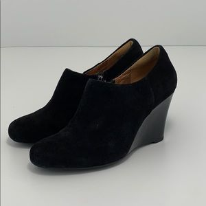Clarks purity frost wedge ankle booties